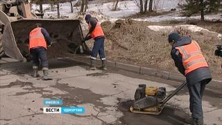 В Ижевске провели тестирование новой технологии устранения дефектов на дорогах