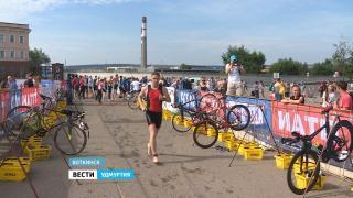 В Воткинске прошли Всероссийские состязания по триатлону